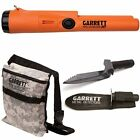 Garrett Pro Pointer AT Metal Detector Waterproof with Camo Digger's Pouch and Ed