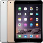 Apple iPad Mini 3 3rd Generation Wifi OR Cellular Gray Gold Silver All Sizes