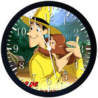 Curious George Black Frame Wall Clock Nice For Decor or Gifts Z173