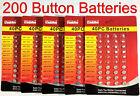 5 PACKS- 200 PCS Assorted Batteries Super Alkaline Set Battery Watch Button Cell