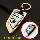 Key Bag Case Shell Holder Pack Cover Fit For BMW X1 X5 X6 F15 F16 F48 3/4 Button
