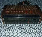 Vintage 1980s Panasonic RC-75 Wood Print LED Alarm Clock AM/FM Radio Works! 👍👍??