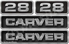 Carver replacement sticker set. 16 inches long by 3.2 high Die-Cut