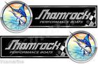 2 Shamrock Boat Marlin Type Stickers