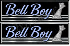 Two Bell Boy Boat Classic Stickers for Restoration Project
