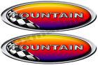 "Two Fountain Racing Oval Sticker 16""X4.5"" each Die Cut"