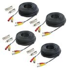 Hykamic 4 Pack 100ft BNC Video Power Cable Security Camera Wire Cord for CCTV...