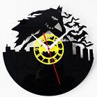"Retro Black CD Batman Wall Clock Creative Vintage Flim Bat Watch Kid 12"""