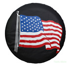 American Flag Spare Tire Cover Car Jeep RV Camper Trailer Wheel Cover Cap Medium