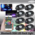 8x RGB LED Rock Lights Pod Wireless Bluetooth Music Flashing Multi-color Offroad