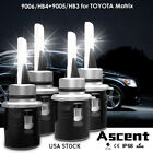 Set 9005+9006 LED Headlight Kit Bulbs For Toyota Matrix 2008-2003 Hi/Low Beam NJ