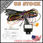 LED Daytime Running Light DRL Relay Harness w/ Auto On Off Control Switch SMD US