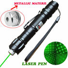Military 20Miles 532nm 4mW Green Laser Pointer Pen 2In1 Star Cap Belt Clip Toy