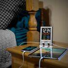 Desktop Dual USB Charging Station Alarm Nap Timer Full Calendar Easy-Set Menu