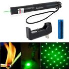Star Cap 50Miles Beam Green Laser Pointer Pen 4mw 532nm +18650Battery+Charger