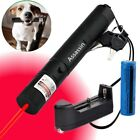 Powerful Red Laser Pointer Laser Pen 4mw 650nm Bright Pet Toy+Battery+Charger US