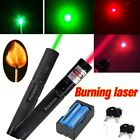2x 532/650nm Powerful 5mw Red&Green Laser Pointer Pen Visible Beam+Battery+Char