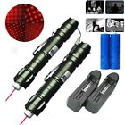 2PC 20Miles 5mw 650nm Powerful Red Laser Pointer Pen Pet Toy Pen+Battery+Charger