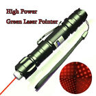Powerful 4mW 10Miles Red Laser Pointer Pen Bright Star Cap Pet Toy 2In1 Light US