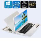 Ultra-thin Quad-Core Laptop 14'' Screen Display 1366*768pixel 4G+64G Windows10