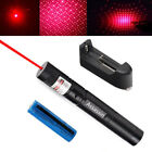 High Power 4wm 650nm Bright Red Laser Pointer Pen Pet Toy Lazer+Battery+Charger
