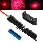 Powerful 20Mile 5mw 650nm Red Laser Pointer Star Pattern Pet Toy+Battery+Charger