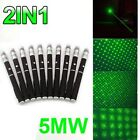 10PC Powerful Star Cap Green Laser Pointer Bright Light 20Miles Military Pet Toy