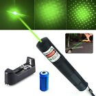 US 50Mile 4mw 532nm Green Laser Pointer Visible Ultra Bright Star Cap+Batt+Char