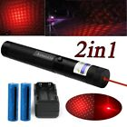 Military 10Mile 4wm 650nm Red Laser Pointer Pen Visible Beam+18650Batt+Charger