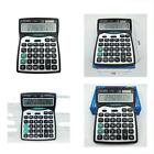 Calculator,12-Digits Solar Dual Two Way Power Large Display Standard Office