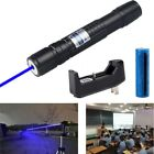 US Powerful Visible Beam 5mW 405nm Violet Laser Pointer Pen+18650Battery+Charger
