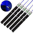 5PC Bright  10 Miles 4mw 405nm Blue Purple Laser Pointer Pen Visible Beam USA