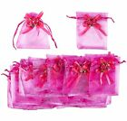 Jewelry Pouch Drawstring Bag – 100 Piece Organza Gift Bags for Jewelry Weddin...