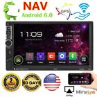 """Quad Core Android 6.0 3G WIFI 7"""" Double 2DIN Car Radio Stereo MP5 Player GPS US"""