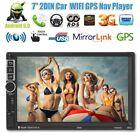 7'' 2 DIN Android 6.0 MP5 Player 3G WIFI Bluetooth GPS Nav Car Radio Stereo EK