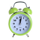 Non-ticking Double Bell Alarm Clock Quartz Movement Night Light Clock Green