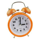 Non-ticking Double Bell Alarm Clock Quartz Movement Night Light Clock Orange