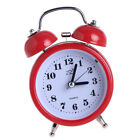 Vintage LED Double Metal Bell Alarm Clock Loud Bed Night Light Clock Red