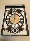 HOMETRENDS WROUGHT IRON FLOWER CLOCK BY STERLING & NOBLE CLOCK CO