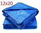 Blue Poly Tarp Cover, Water Proof Tent Shelter, Tarpaulin Multi-purpose, with 3