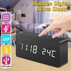 Digoo Wooden Voice Control Digital LED 3 Modes Alarm Clock Temperature Calendar