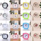 Fashion Square Round Apple Silent Home Snooze Analog Candy Color Alarm Clock