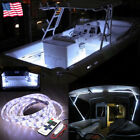 DC 12V White Wireless Waterproof LED Flexible Strip Light 5M Boat Car motorcycle