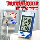Digital LCD Thermometer Hygrometer Gauge Clock Temperature Humidity Meter Home