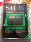 Seiko Instruments SII Pocket Electronic European Translator NOS
