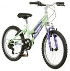 Girl's Mountain Bike 20 Inch Trail Outdoor Exercise Steel Frame Easy 6 Speed New
