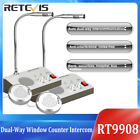 2X Dual-way Window Counter Intercom Interphone System for Bank/Office/Store US