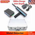 AKS Handhold 3D Professional Metal/Gold Detector 14m depth Long Range Finder USA