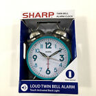 Quartz Analog Alarm Clock Twin Bell Repeat Snooze Backlight Best Heavy Sleepers