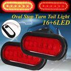 "6"" Oval RV LED Car Trailer Truck Sealed Stop Turn Tail Light Marine Waterproof"